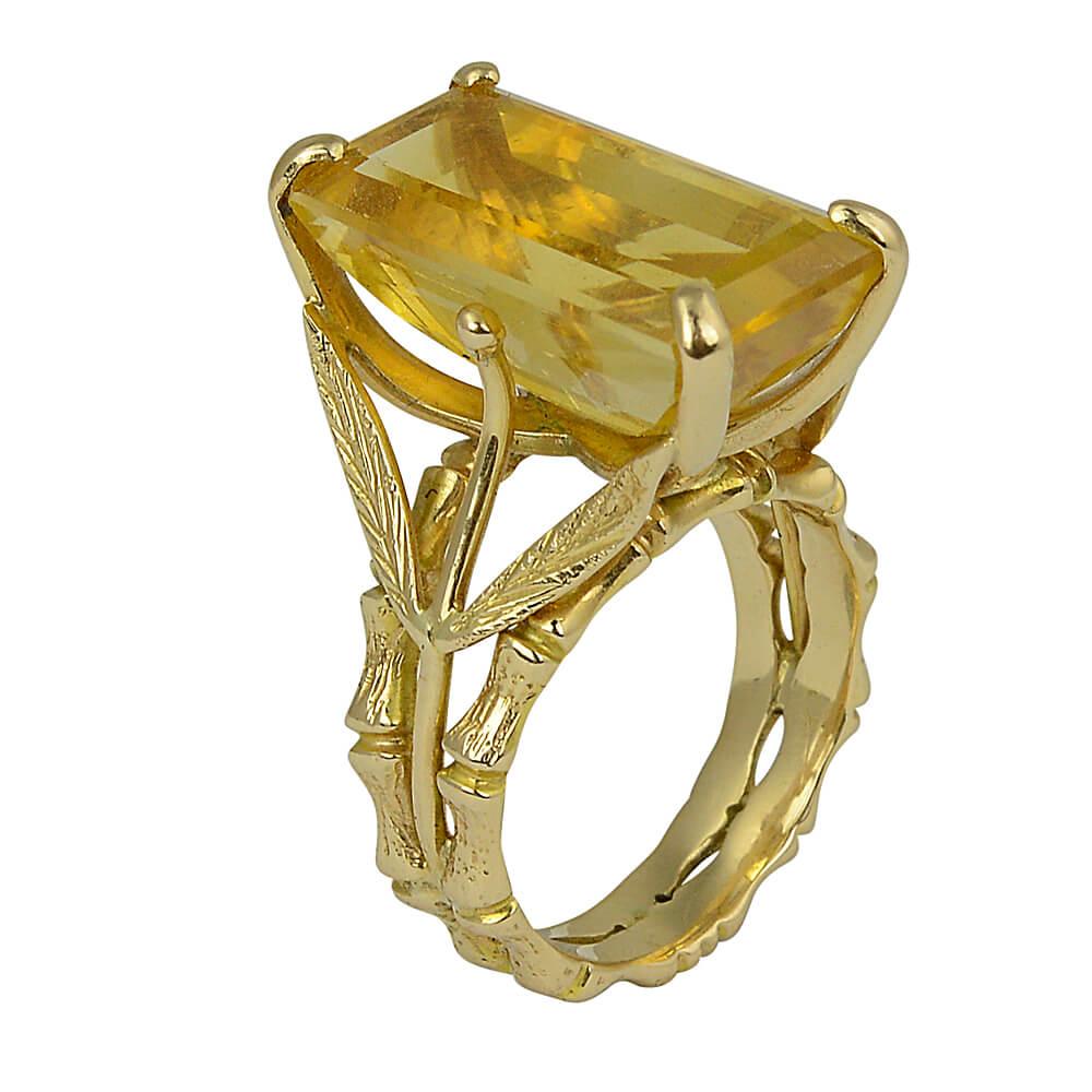 Vintage Citrine Ring 2